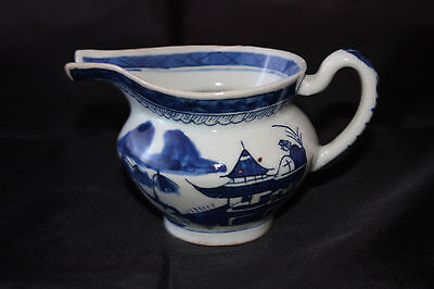 Canton Chinese Export Blue and White Porcelain Snout-Nosed Pitcher 1825-1850