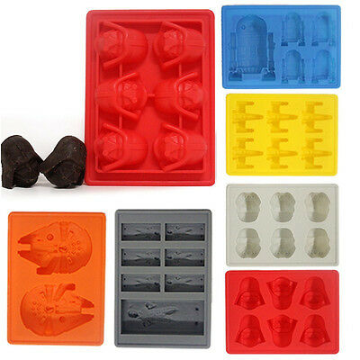 Popular 2015 Silicone Star Wars Ice Cube Tray Mold  Cookie Soap Baking Mould DIY