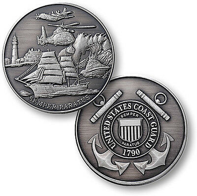 United States Coast Guard Theme / USCG Nickel Antique Challenge Coin