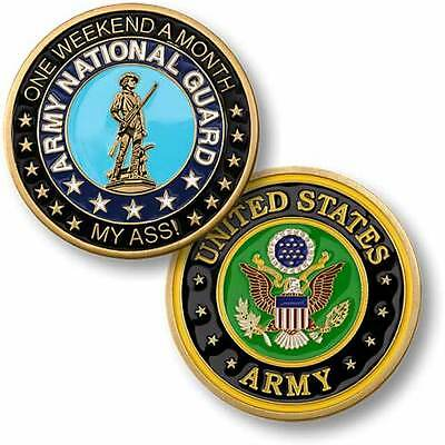 U.S. Army National Guard / One Weekend A Month - Brass Challenge Coin