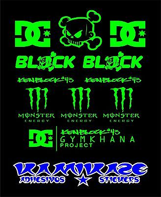 Pegatina Sticker Autocollant Adesivi Aufkleber Decal  Kit Ken Block 43 Monster