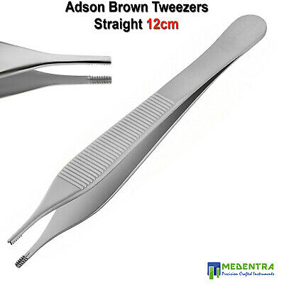 Brown Adson Tissue Pliers Micro Dissecting Forceps Suturing ENT Dermatology Tool