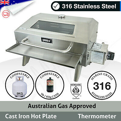 MARINE BBQ Portable Boat Camp Gas Barbeque Stainless Steel Caravan Grill Window