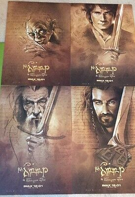 The Hobbit Four Poster Set, Beautiful Imax Posters