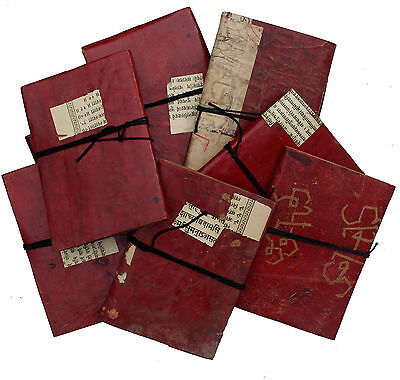 """5"""" Vintage Handmade Reclaimed Antique Retro Leather Sketchbook Diary Journal"""