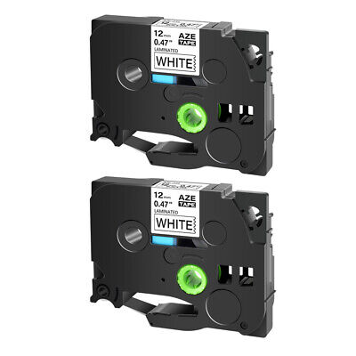 2PK Black on White Label Tape For Brother P-Touch PT-2730 TZe-231 TZ 231 12mm*8m