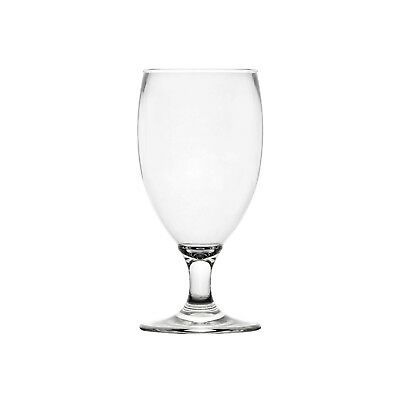 24x Polysafe Footed Beer 500mL Unbreakable Polycarbonate Plastic Glass Cocktail