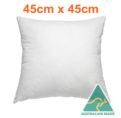 NEW Cushion Insert Aust Made Polyester Premium Lofty Fibre Filling-45cm x 45cm