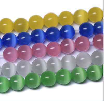 fashion beautiful multicolor cat's eye charms beads  6----12mm