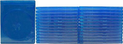 25 x Empty Standard Blue Replacement Boxes/Cases for Blu-Ray DVD Movies