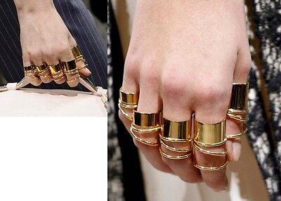 Wholesale 9Pc/Lot Fashion European Punk Gold Plated Alloy Circle Finger Ring