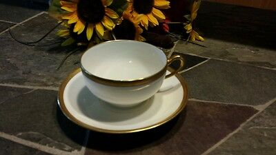 THEODORE HAVILAND LIMOGES FRANCE BRETON TEACUP AND SAUCER LOVELY