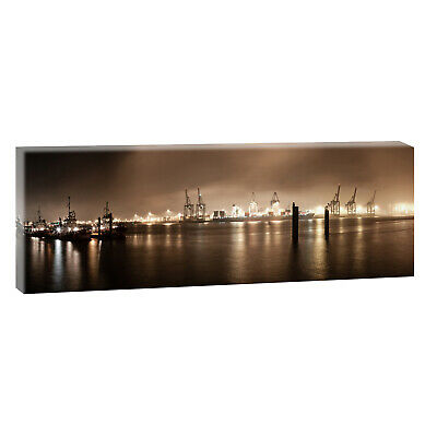 hamburg hafen panorama sw bilder kunstdruck poster leinwand xxl 150 cm 50 cm 496 eur 32 78. Black Bedroom Furniture Sets. Home Design Ideas
