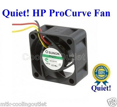1x Quiet HP ProCurve 2848 Fan by SUNON 12dBA noise vs 32dBA on your Stock Fan