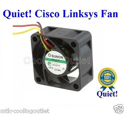 Super Quiet Cisco Linksys SR2024 FAN, 1x new Sunon MagLev fan 12dBA Noise