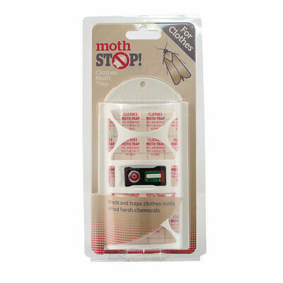 Lakeland Hanging Moth Stop Sticky Moth Trap - Traps Moths For Up to 8 Weeks
