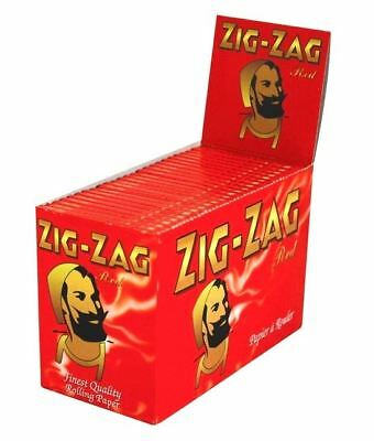 1 5 10 25 50 100 Genuine Zig Zag Red Regula Smoking Cigarette Rolling Papers