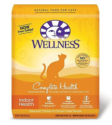 Wellness Dry Cat Food for Adult Cats, Indoor Health Recipe, 11-Pound and