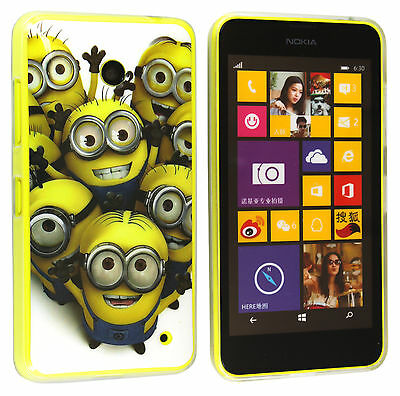 Minion Custodia in Silicone TPU Gel Case Cover Per Nokia Lumia 630