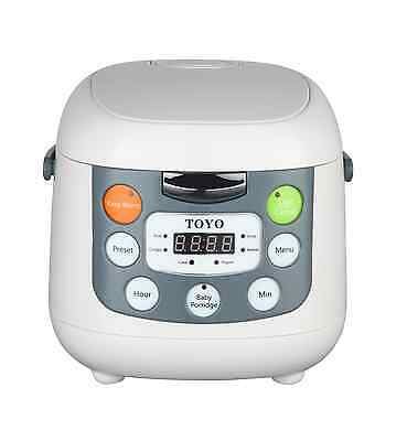 TOYO Multi Function Rice Cooker LCD Display 4 Cups/2L (Seven Function) MB-FS20S