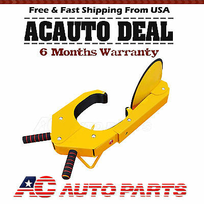 Rubber Car Tire Parking ATV RV Boot Wheel Clamp Boat Towing Truck Trailer Lock