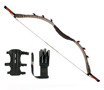 2015 NEW IRQ Archery Recurve Bow Hunting Shooting Longbow Wood Horse Bows 50LBS