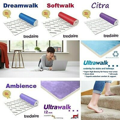 Tredaire carpet underlay Dreamwalk Softwalk Citra Ambience Colours Red
