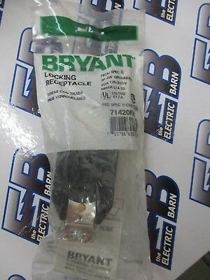 Bryant 71420FR, L14-20 20 Amp 125/250 Volt Twistlock Receptacle NEW