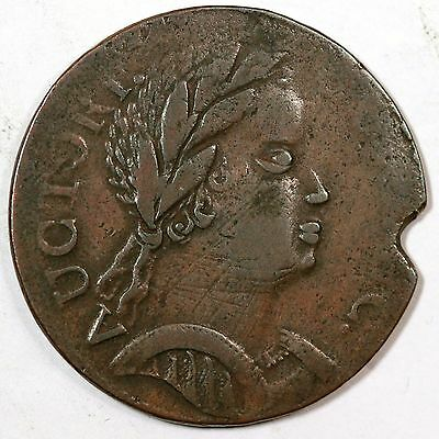 1785 M 4.1-F.4 African Head Connecticut Colonial Copper Coin