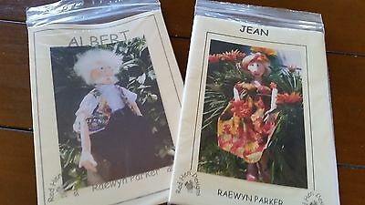 2 Cloth Doll Patterns - Albert and Jean - Sweethearts Forever