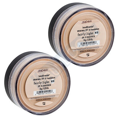 BareMinerals ORIGINAL SPF 15 Foundation FAIRLY LIGHT N10 8g/0.28oz - Pack of 2