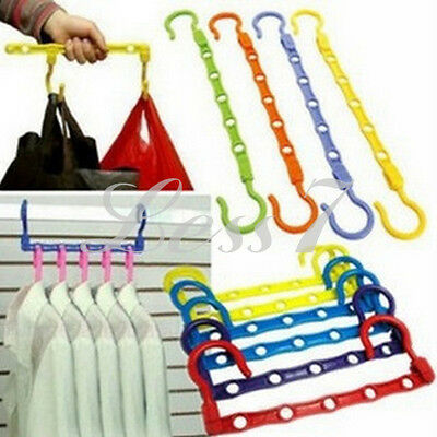 Space Saving Closet Clothes Magic Holders Hanger Classify Hanging Organizer CA