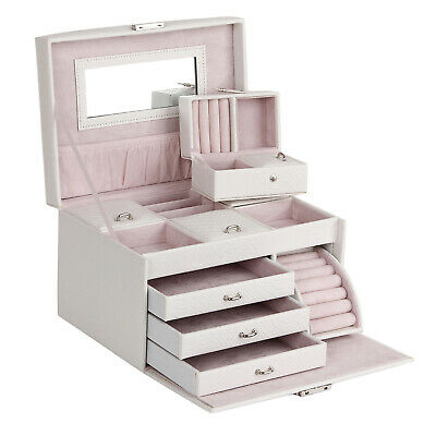 Jewellery Storage Box Girls Rings Necklaces Display Organiser Storage Case Gifts