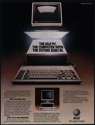 1985 AT&T PC 6300 Personal Computer VINTAGE AD