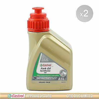 Castrol Fully Synthetic Fork Oil 5W Suspension Fluid 2 x 500ml 1L