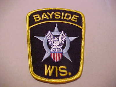 BAYSIDE WISCONSIN POLICE PATCH