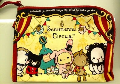 New Official San-x Sentimental Circus multi purpose bag pouch Pink Shappo Cute