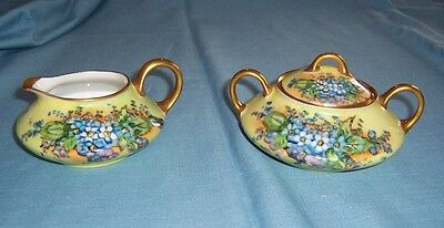 Fabulous Bavarian China Sugar and Creamer -C2585