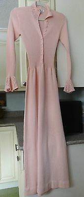 Vintage 1950's Poly/Wool Long Sweater Dress Knits by Don Holiday Small