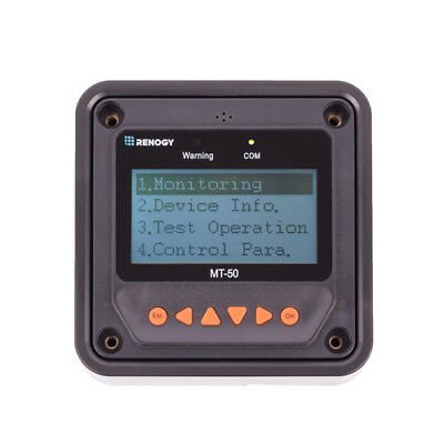 Renogy MT-50 Remote Meter Monitor For MPPT Charge Controller w/ LCD Display