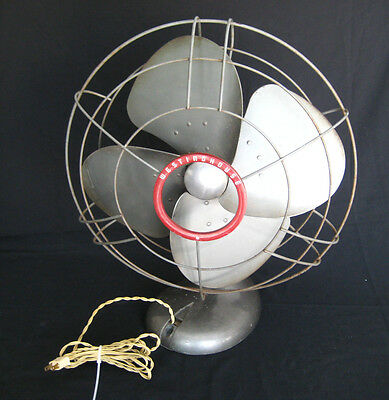 "Vintage Westinghouse Oscillating 3-Speed 16"" Fan Model Y-4699 - Works"