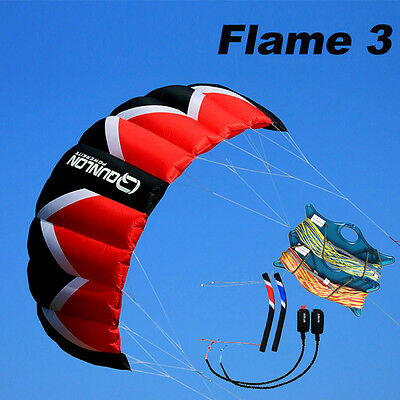 Kit 3M² Quad Line Traction Kite & Line & Handle Power and Training Kite Pro