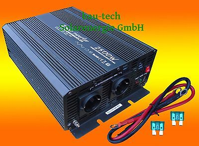 Voltage Converter 12v 1500 3000 Watt Pure Sine Incl Cable Remote Control New