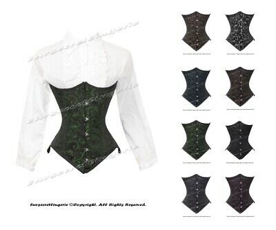 Heavy Duty 26 Double Steel Boned Waist Training Cotton Underbust Corset #8554-C2