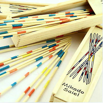 Popular Wooden Wood Pick Up Sticks Retro Traditional Game Pickup Stick Toy new