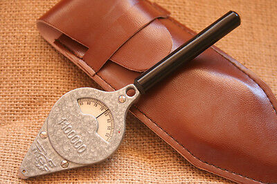 Genuine Polish Military Army Map Measurer Opisometer WarsawPact w/leather pouch