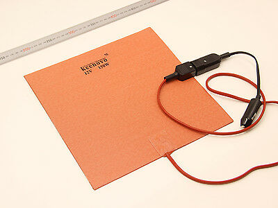 """Pizza Hot Food Delivery Bag Heating Element 11"""" Silicone Heater 12V w/T-stat 75C"""