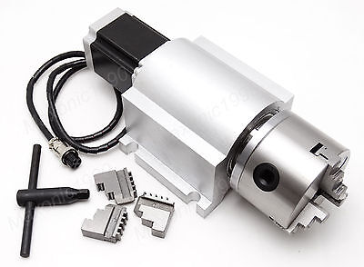 CNC Router Rotational Rotary Axis, A-axis, 4th-axis,3-Jaw -L