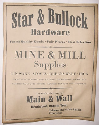 Star & Bullock Hardware Poster, old west, western, wanted, Deadwood, Seth