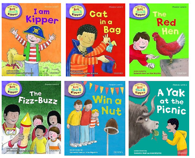 Level 2 Oxford Reading Tree Biff Chip & Kipper Phonics Collection 6 Book Set